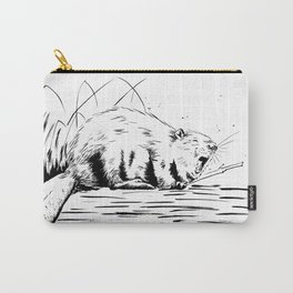 Beaver Yawn Carry-All Pouch