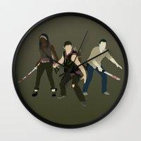 atlanta Wall Clocks featuring Team Atlanta by Six Pixel Design