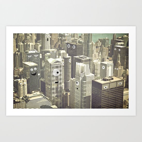 building conversations  Art Print