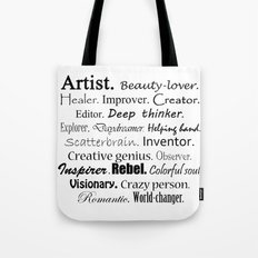 Artist Description Tote Bag