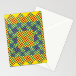 Dot Swatch Equivocated on Yellow Stationery Cards