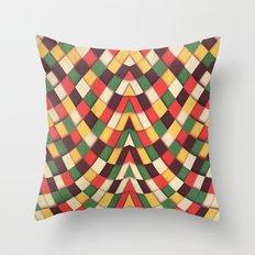 Rastafarian Tile Throw Pillow
