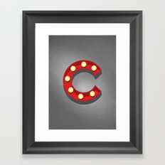 C - Theatre Marquee Letter Framed Art Print