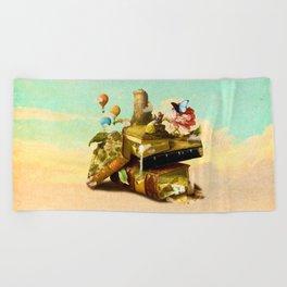 To Lands Away Beach Towel