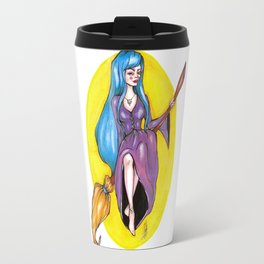 The blue haired witch Travel Mug