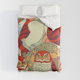 Burrowing Owl Family Comforters