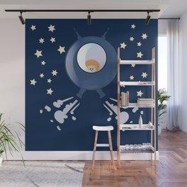 Hedgehog in space. Wall Mural