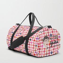Audrey Lipstick Quote Duffle Bag