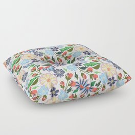 Springtime Floral Floor Pillow