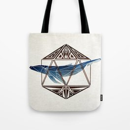 whale in the icosahedron Tote Bag