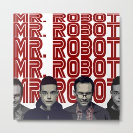 Mr. Robot Metal Print