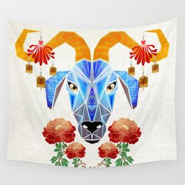 chinese goat Wall Tapestry