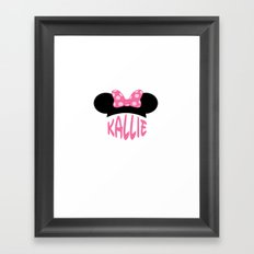Kallie Ears Framed Art Print