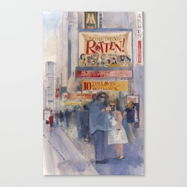 Something Rotten - Broadway Musical - Selfie - New York Theatre District  Canvas Print