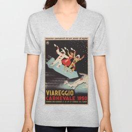 Vintage poster - Viareggio Unisex V-Neck