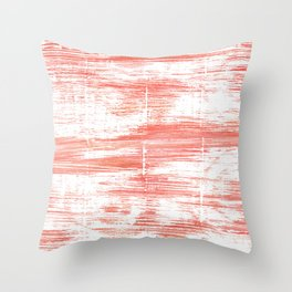 Light salmon pink abstract watercolor Throw Pillow