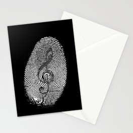 Born to love music! Stationery Cards
