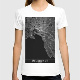 Melbourne Black Map T-shirt