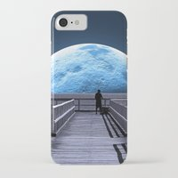 bill iPhone & iPod Cases featuring Once in a blue moon by Donuts