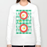 breakfast Long Sleeve T-shirts featuring breakfast by vitamin