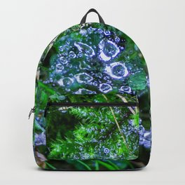 Raindrops in the spider web Backpack