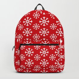 Winter Wonderland Snowflake Snowfall Christmas Pattern Backpack