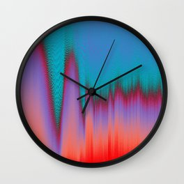 Glitch Stitch Wall Clock