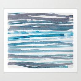 15   |  190408 Blue Abstract Watercolour Art Print