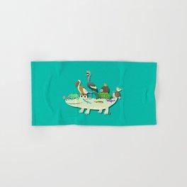 Crocodile Hand & Bath Towel