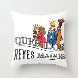 Queridos Reyes Magos Throw Pillow