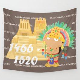 Moctezuma Xocoyotzin Wall Tapestry