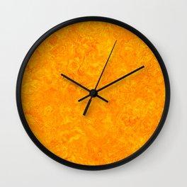 Yellow and Orange Marble Art Wall Clock
