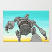 iron giant Canvas Prints featuring Iron Giant by 117 Art