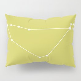 Capricorn Zodiac Constellation - Vibrant Green Pillow Sham
