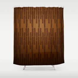 Eye of the Magpie tribal style pattern - bronze Shower Curtain