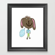 FLUFFY PUPPY Framed Art Print