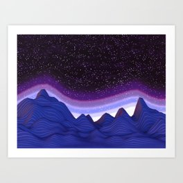 Mountains in Space Art Print