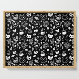 Herb Witch // Black & White | Nikury Serving Tray