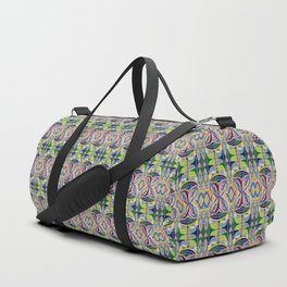Butterfly mosaic - brightly colored pattern Duffle Bag