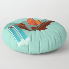 Floating Island (Water House) Floor Pillow