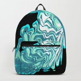 Ripples on a Black Background 03 Backpack