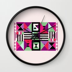 Violet Triangulation Wall Clock