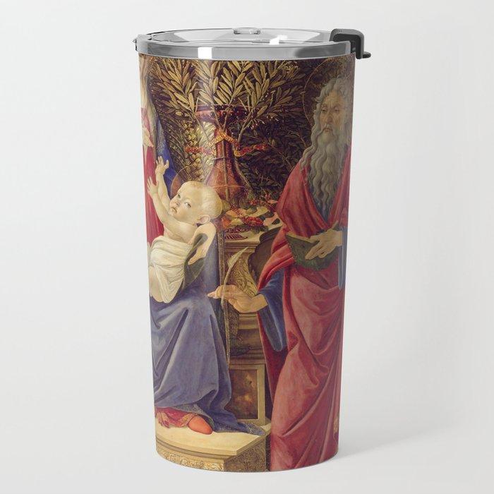 Botticelli - Madonna With Saints Travel Mug