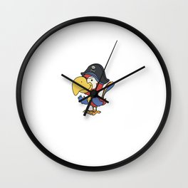 Living with Parrots Like a Blender with No Lid T-Shirt Wall Clock