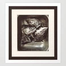 Salmon Heads Art Print