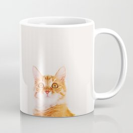 Cute ginger curious cat Coffee Mug