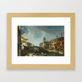 Michele Marieschi VENICE, VIEW OF THE CANNAREGIO, LOOKING TOWARDS THE GRAND CANAL Framed Art Print