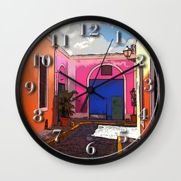 Old San Juan Ally Wall Clock