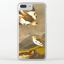 Snow Bunting Bird Clear iPhone Case