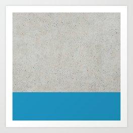 Concrete Blue Art Print